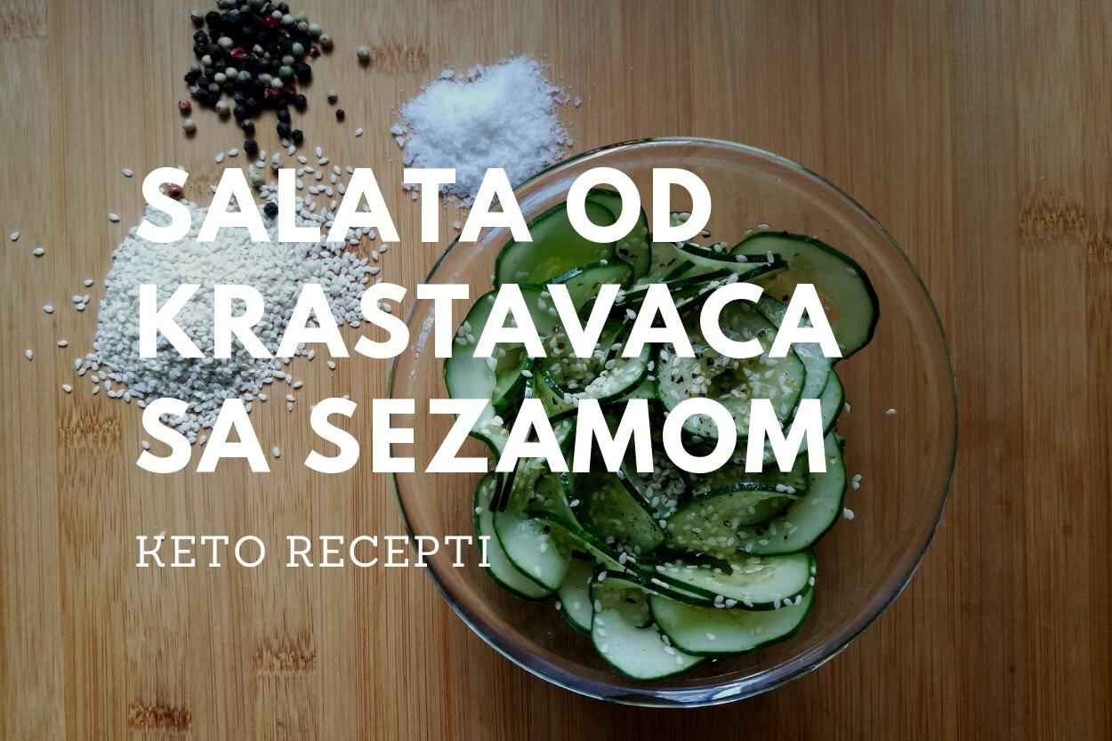 Salata od krastavaca sa sezamom Keto recepti